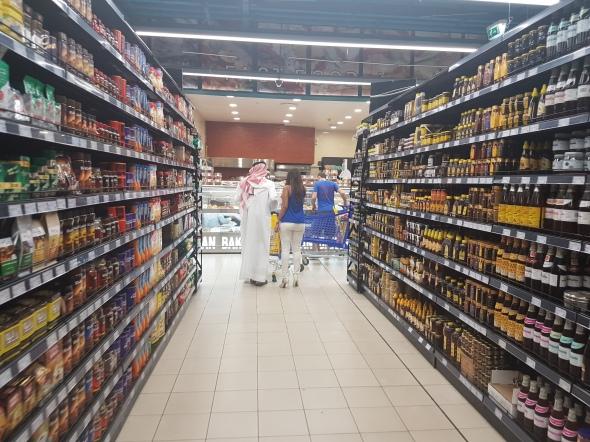 Grocery shopping in Dubai.