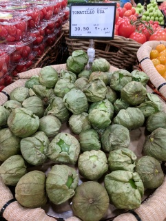 I haven't seen a tomatillo in the U.S. before, but these are from apparently from home!
