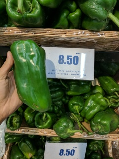 I have never seen a green pepper this long before.
