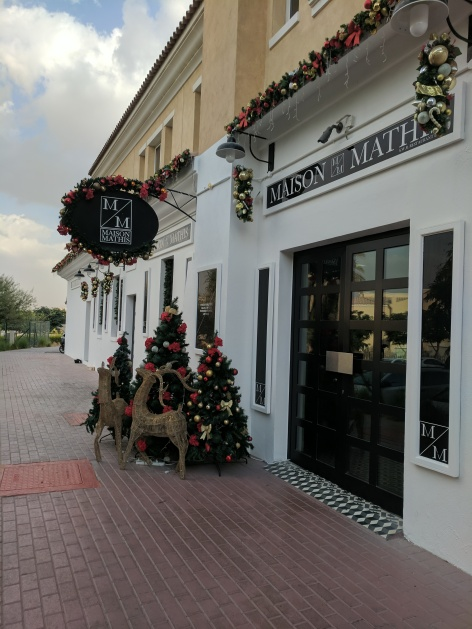 Maison Mathis is one of the many restaurants and cafes that decorate for Christmas in Dubai.