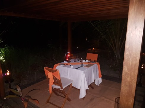 Romantic private dinner for Rocket and I on our last night. This was great for spending quality time together.