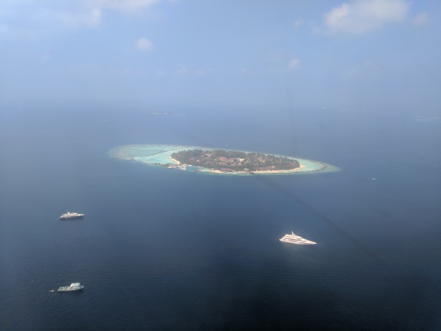 Beautiful coral reef island in the Maldives.